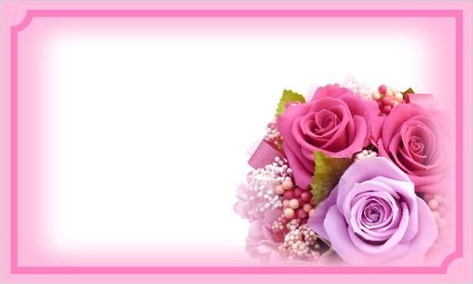 ピンクのバラのカード・文字なし