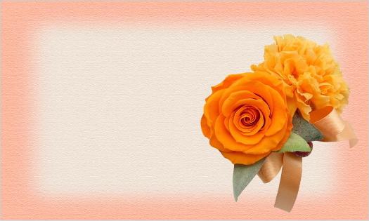 オレンジのバラとカーネーションの母の日用カード・文字なし